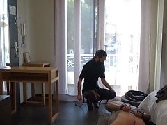 French dominatrix sodomizes an exhibitionist pervert